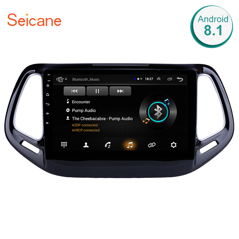 Seicane 2din Android 8.1 Car Multimedia Player GPS Navigation For JEEP Compass 2017 car stereo wifi Bluetooth DVR USB GPSSeicane 2din Android 8.1 Car Multimedia Player GPS Navigation For JEEP Compass 2017 car stereo wifi Bluetooth DVR USB GPS