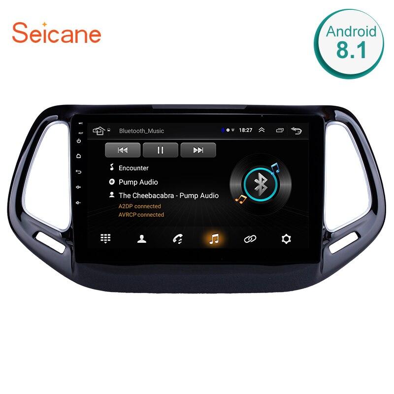 Seicane 2din Android 8.1 Car Multimedia Player GPS de Navegação Para JEEP Compass 2017 wi-fi estéreo do carro GPS Do Bluetooth DVR USB