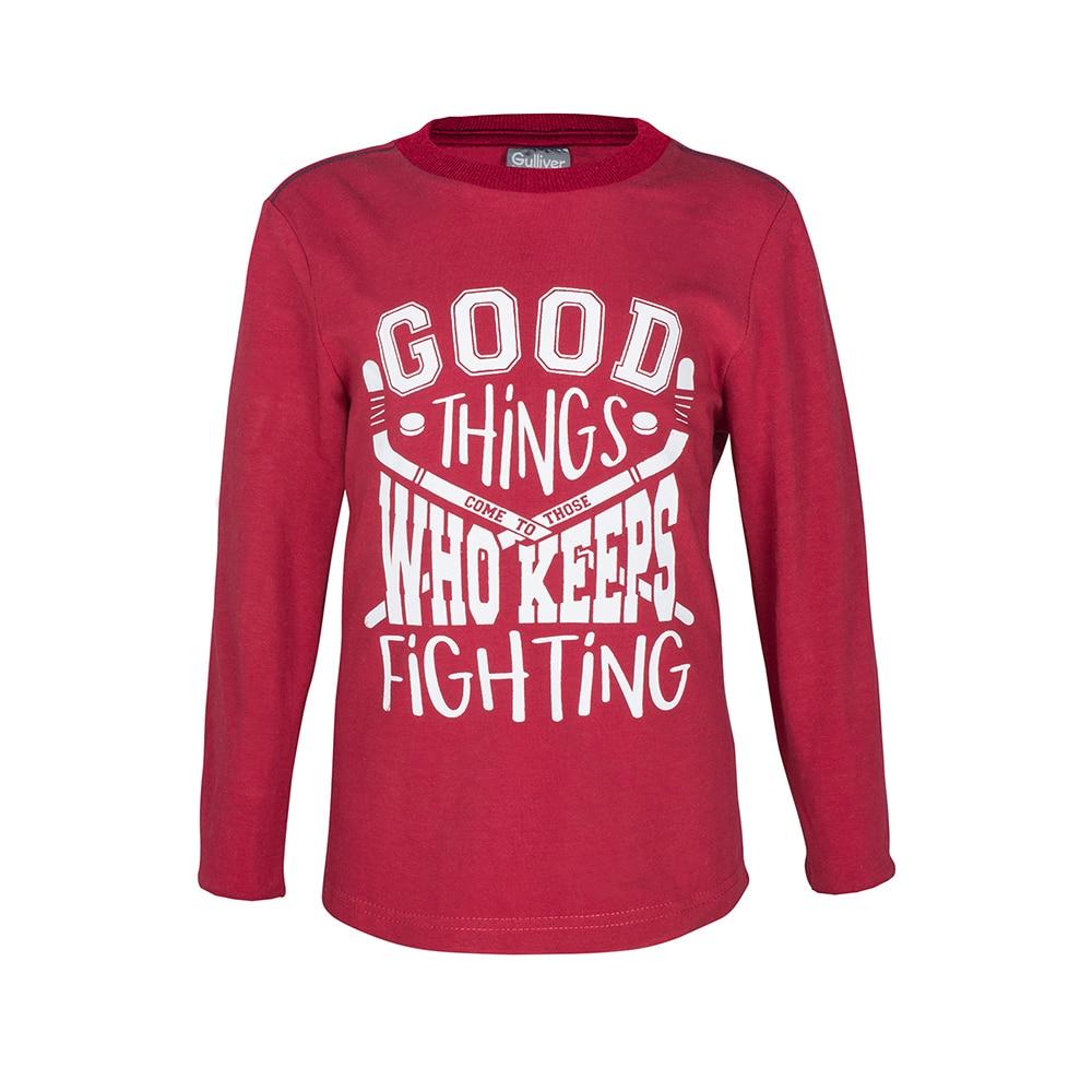 T-Shirts Gulliver 21804BMC1203 for boys Cotton Tshirt children kids boy clothing cute print tshirt