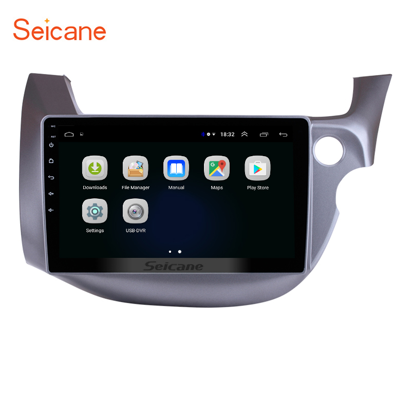 Seicane Android 8 1 10 1 for HONDA FIT JAZZ 2007 2013 Right Hand Drive Car