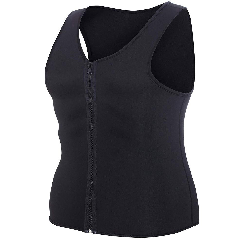 Men Waist Trainer Vest Sauna suit Sweat Shirt Belt Underwear Body Shaper for Gym