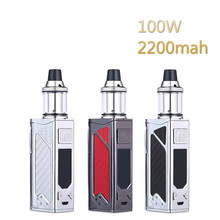 Original 100W electronic cigarette kit box mod 2200mah evaporator smoke vaper vape pen Huge vaporizer e-cigarettes hookah kits