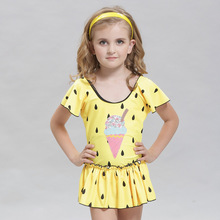 2019 Girl Lovely Swimming Suit Children Full Skirt