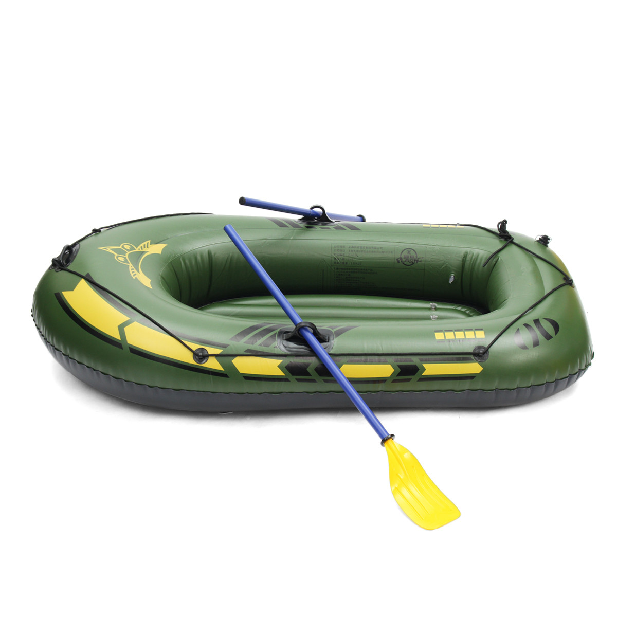 SGODDE 2 personas/3 personas engrosamiento PVC bote inflable balsa río lago bote de pesca con remos Set de carga 200kg - 5