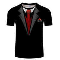 Hot Sale 3D T Shirt Men Fake Suit Uniform Print Short Sleeve Compression Shirt Skin Tight O-Neck Casual Funny T Shirts Tops