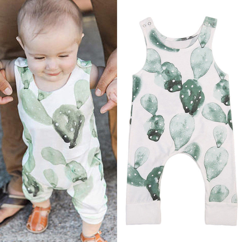 Pudcoco Baby Clothes Cotton Infant Baby Girl Boy Cactus   Romper   Jumpsuit Outfit Playsuit Clothing Z