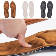 4D ортопедические стельки из флока с эффектом памяти, ортопедические стельки для обуви, ортопедические подушки