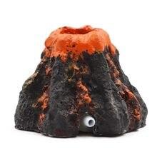Dekoracja akwarium wulkan kształt ryby ozdoba do akwarium pompa tlenu kamień napowietrzający powietrza napędu pompy ryby zabawkowy czołg ozdoba do akwarium