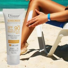 SPF 90 Facial Sunscreen Cream Beauty Skin Care Oil Free Radical Scavenger Anti Oxidant UVA/UVB 40g Britening Sun Day