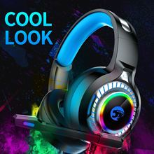 лучшая цена A60 Professional Gaming Headset with Microphone Stereo Deep bass RGB Noise Cancelling Game Headphones Wired For PS4 PC