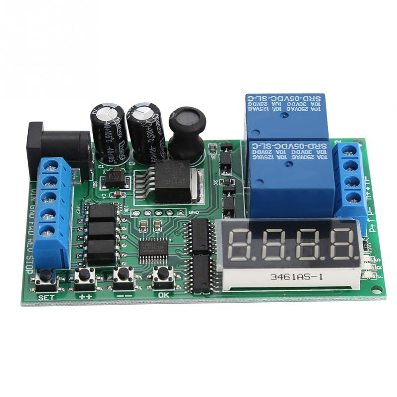 24V Motor Forward//Reverse Controller Timing Delay Time Cycles Relay Motor Controller Board 5V