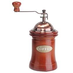 Szlachetny młynek do kawy ręcznie młynek do kawy gospodarstwa domowego Mini instrukcja młynek do kawy fasoli orzechy maszynki do mielenia w Ręczne młynki do kawy od Dom i ogród na