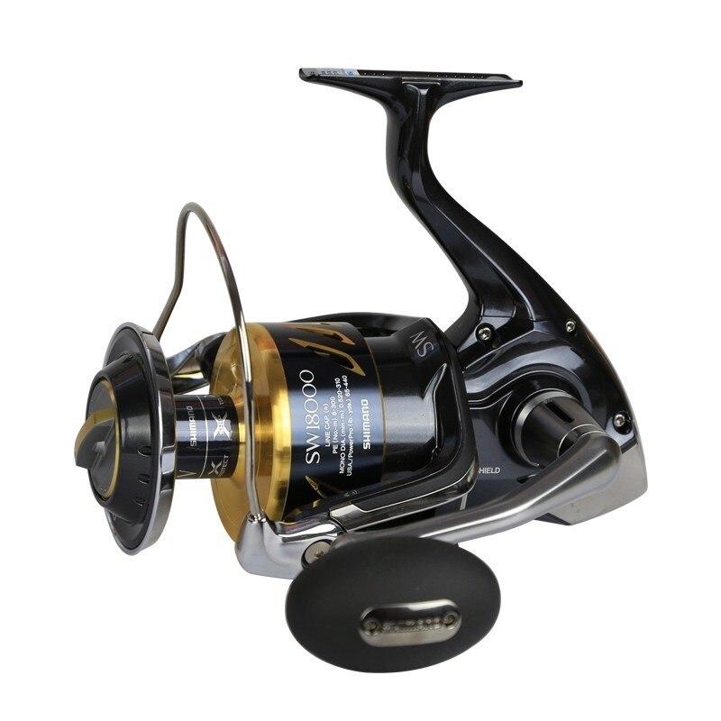 US $1000 0  100% Original Shimano Stella SW 6000PG 18000HG 20000PG 14+1bb  25KG Drag Spinning Fishing Reel X ship Saltwater Made In Japan-in Fishing