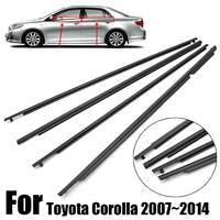 4PCS Car Outside Window Moulding Trim Weatherstrip Seal Belt Weather Strip For Toyota Corolla 2007~2014