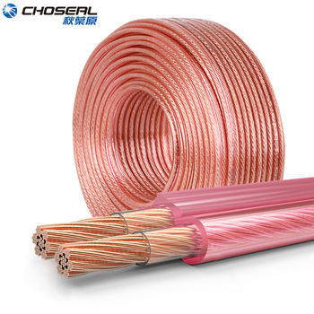 CHOSEAL DIY Loud Speaker Cable Hi-Fi Audio Line Cable Oxygen Free Copper Speaker Wire for Amplifier Home theater KTV DJ System