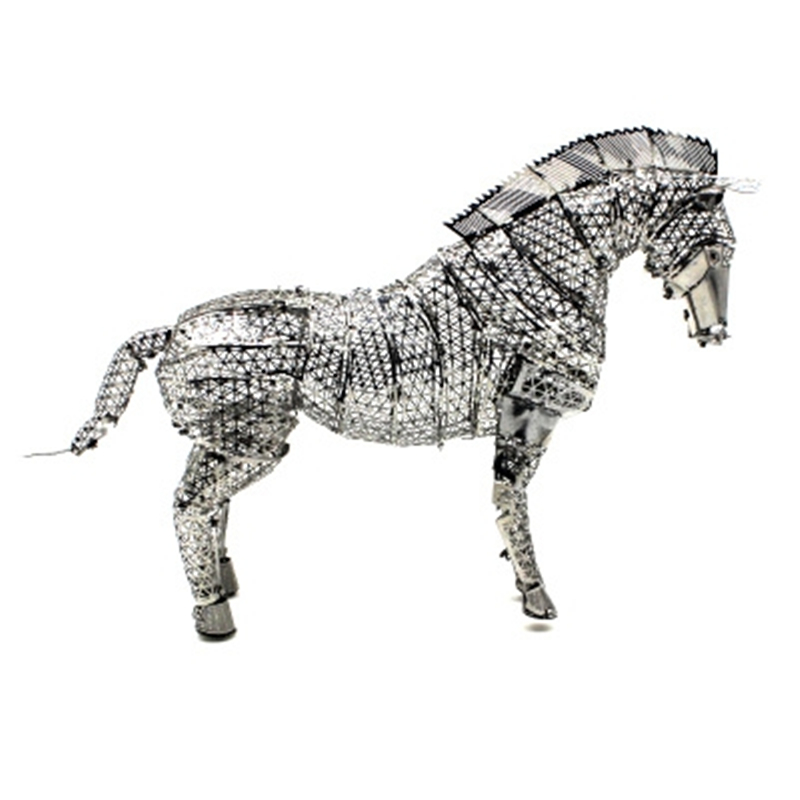 Fine Horse 3D Metal Puzzles DIY Nano Animal Model Kits Laser Cut Assemble Jigsaw Adult Gifts Toys Educational Collection