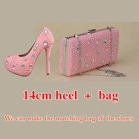 Туфли розового цвета с жемчугом, новые модные туфли лодочки со стразами, женские милые Роскошные туфли на платформе, свадебные туфли на высо