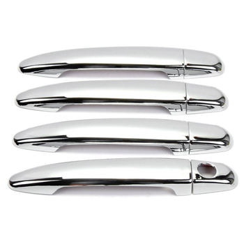 8Pcs Chrome Door Handle CoverTtrim For Toyota Highlander Camry Avalon Tacoma For Toyota Camry Door Handle Case image