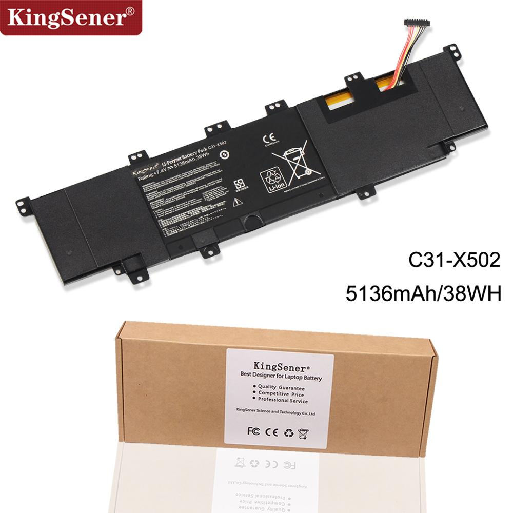 KingSener New C21-X502 Laptop Battery For ASUS VivoBook X502 X502C X502CA S500 S500C S500CA PU500C PU500CA 7.4V 38WH