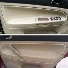 Manija de puerta de cuero de microfibra para coche, apoyabrazos, embellecedor de Panel para VW Passat B5 1998 1999 2000 2001 2002 2003 2004 2005