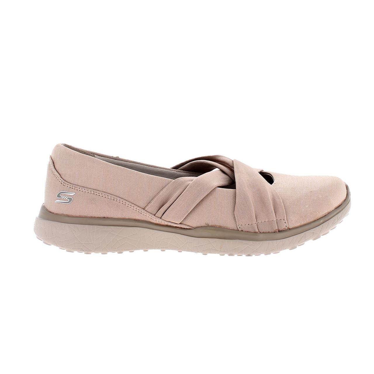 Skechers Mujer Marrón Tpe Zapatillas Nh0wayq On Textil Slip 23562 qw7BXOI