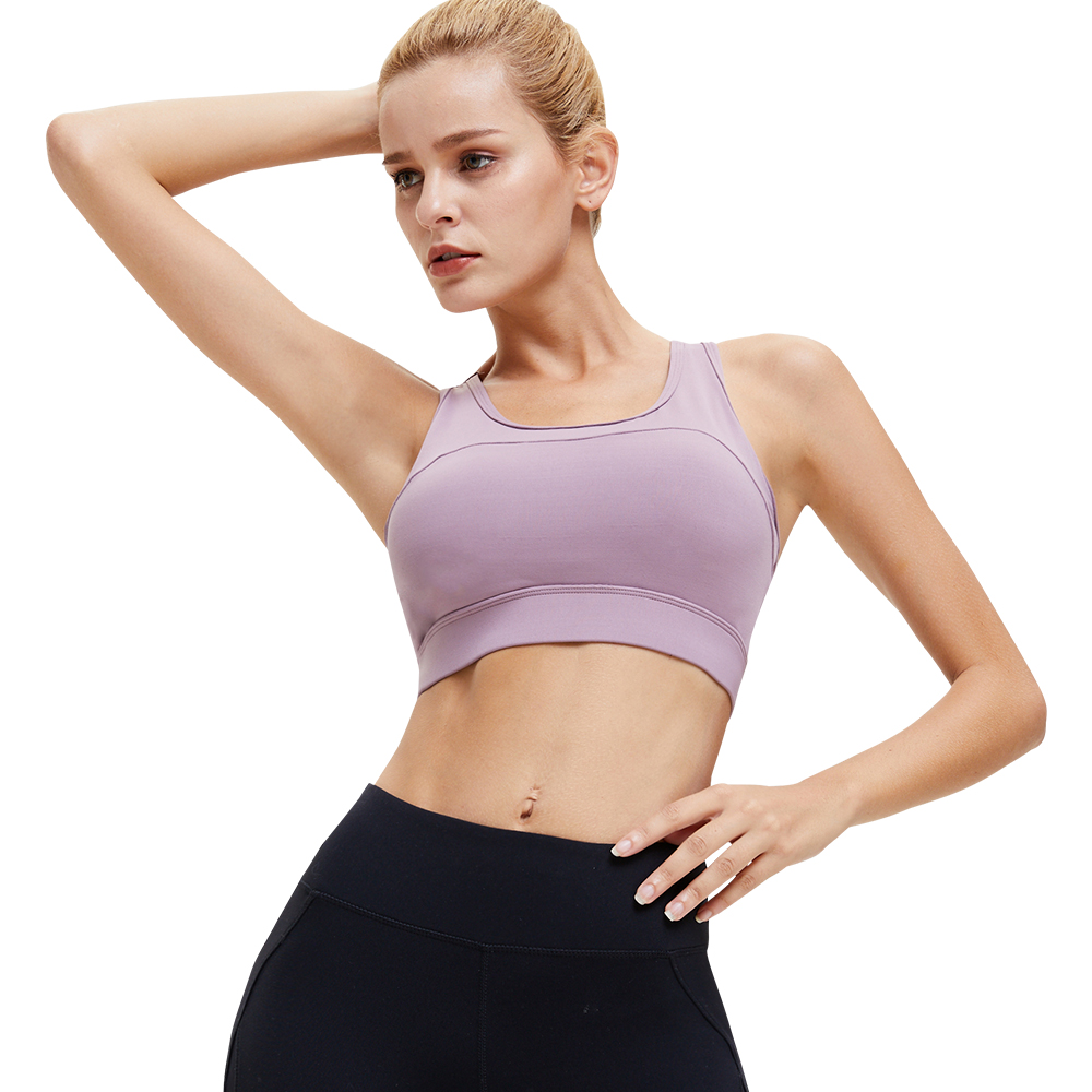 Women Solid Color Shock-proof Sports Bra Top Adjustable Back Buckle Fitness Yoga Bra Underwear Padded Cross Back Sports Bras To Win A High Admiration And Is Widely Trusted At Home And Abroad. Sports & Entertainment