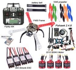F450 450 millimetri Quadcopter Kit Telaio PIXHAWK 2.4.8 di controllo di Volo M8N GPS 30A Simonk ESC Brushless 2212 920KV Motore Flysky i6X + X6B