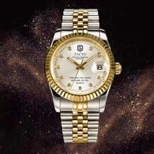 TACTO Brand Gold Mens Watches Top Brand Luxury Full Steel Quartz Watch classic Men Wrist Watches Clock relogio masculino 2018 стоимость