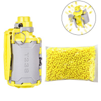 2019 T238 V2 Large Capacity Gun Toy Set With Time Delayed Function For Nerf Gel Ball BBs Airsoft Wargame Grey + Yellow