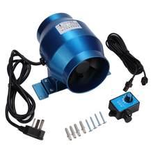 4 inç egzoz fanı ayarlanabilir hızlı kanal Fan bahçe tarım arazileri cam hava akımı Boost vantilatör boru havalandırma sıkacağı 220V