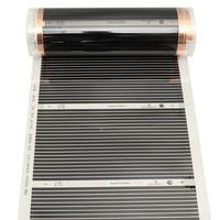 1pc 220V 220W Infrared Film Warm Floor Underfloor Heating Film Foil Mat For Laminate Solid Floors Heating Mats 8.5UM 14UM