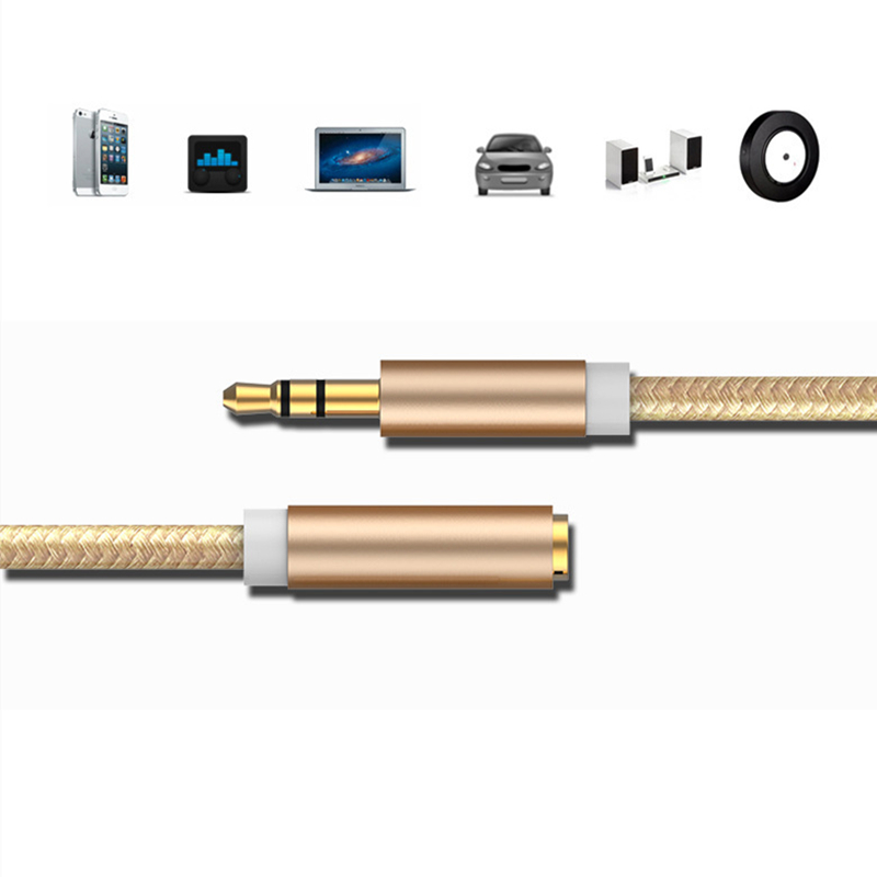 Rankman 5pcs 3.5mm Jack Extension Audio Male to Female Cable AUX Cord Line for phone MP4 Speaker PC Car Earphone