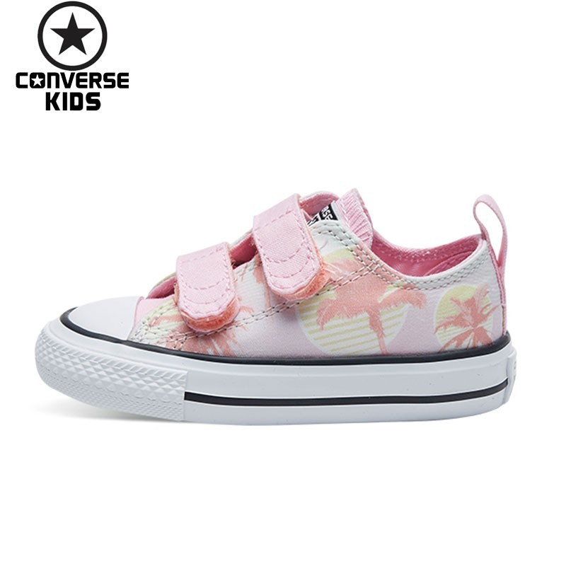 CONVERSE Children's Shoes Cartoon Camouflage Printing Canvas Low Help Magic Subsidies Breathable Girl Shoes #760064C S