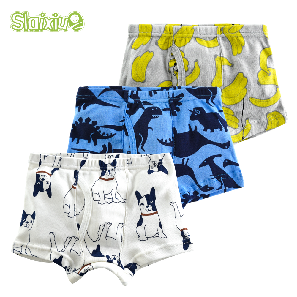 3Pcs/lot Cotton Soft Organic Kid Underwear Boys Boxer Children Panties Briefs For Boy For 2-10years Teenager Underpants