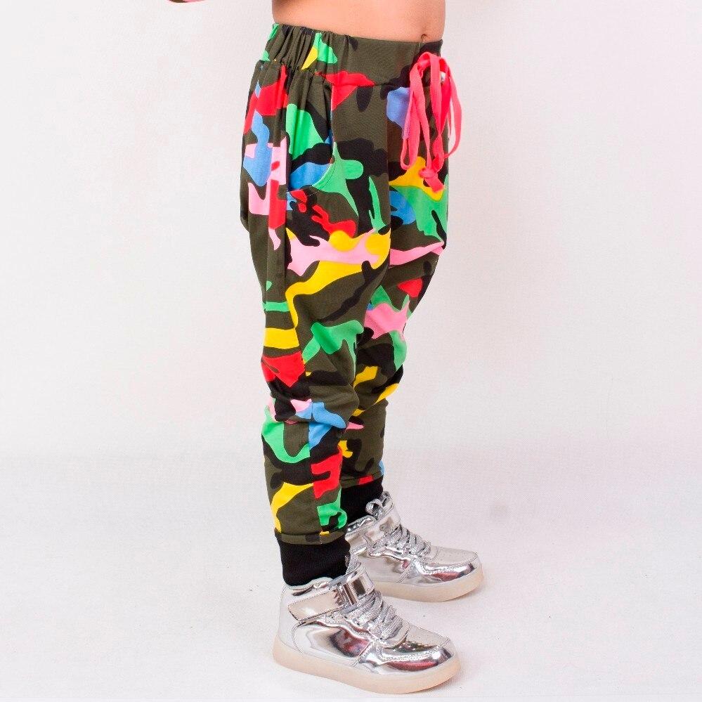 Heroprose New Children's 2021 Spring Summer Hip Hop Dance Harem camouflage Leisure Sports kids Boys Big Crotch Skinny Pants 4
