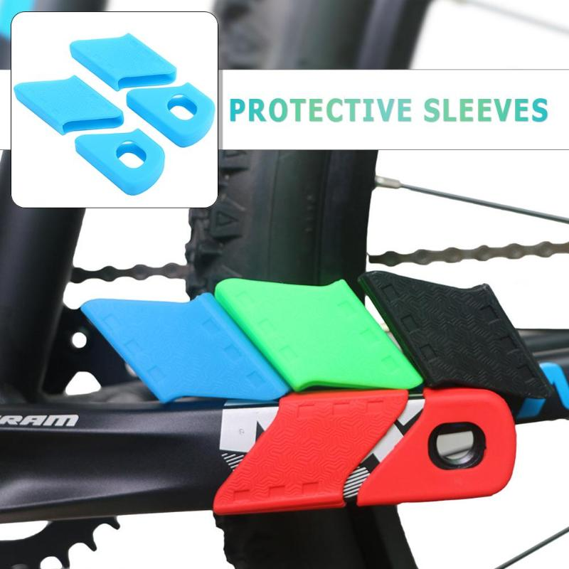 Universal Bicycle Silicone Crank Arm Boots Protectors Bike MTB Crank Protective Sleeve Cover Crankset Protection