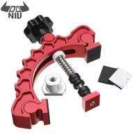 Red Aluminum Alloy Knuckle Clamp Adjustable Press Plate T Track Clamp Quick Acting Hold Down Clamp Precisely Woodworking Tool