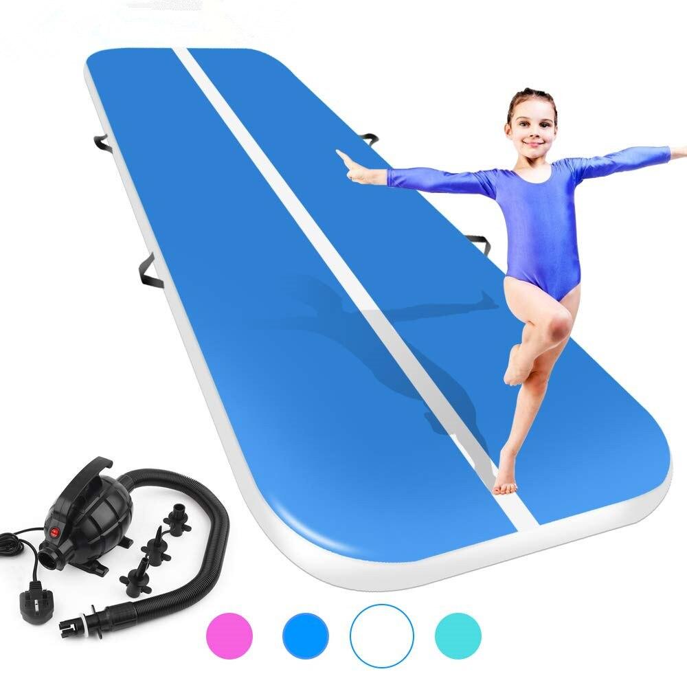 Nouveau 4 m/5 m/6 m * 2 m * 0.2 m Gonflable Gymnastique Airtrack Tumbling Voie D'air Plancher Trampoline Pour L'usage À La Maison/formation/cheerleading/plage