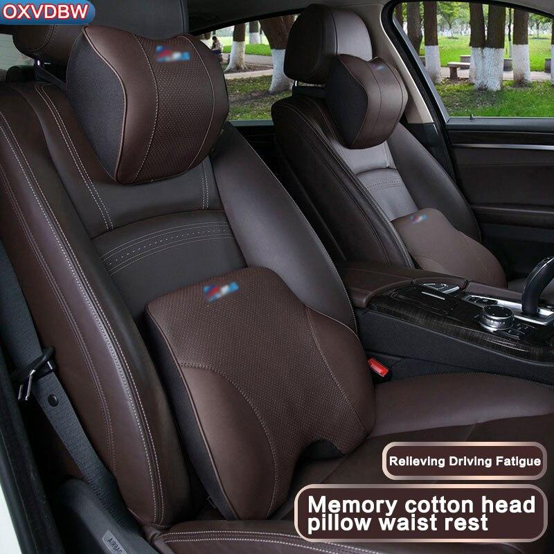 ل BMW جلد طبيعي رئيس وسادة E90 E70 E71 E60 E84 X1 E89 F10 F15 F16 F30 F34 الداخلية التصميم الديكور اكسسوارات السيارات