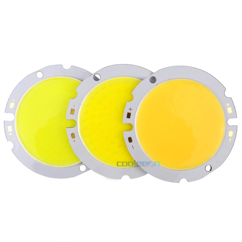 44mm Rounded COB Chip On Board LED Light Source 10W 15W 20W 30W LED COB Lamp 30V Warm Natural Cold White LED For Indoor Lighting