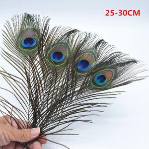 Image 3 - 500 個の高品質孔雀羽、 25 〜 120 センチメートルロング、美しい自然な孔雀の羽、 diy のジュエリーの装飾アクセサリー