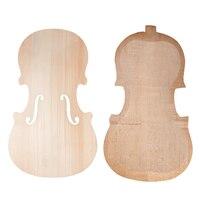 1 Set Wood Unfinished Violins Fiddle Spruce Panel Plate + Maple Backplate DIY Stringed Instruments Exquisite Workmanship