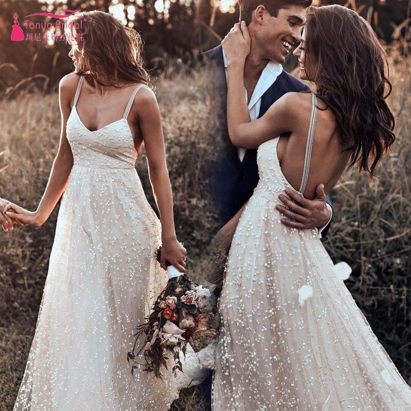 Classic Handmade wedding Dresses 2019 breathtaking Dot Tulle V neck bodice Bridal Gowns Unique Timeless Vestido