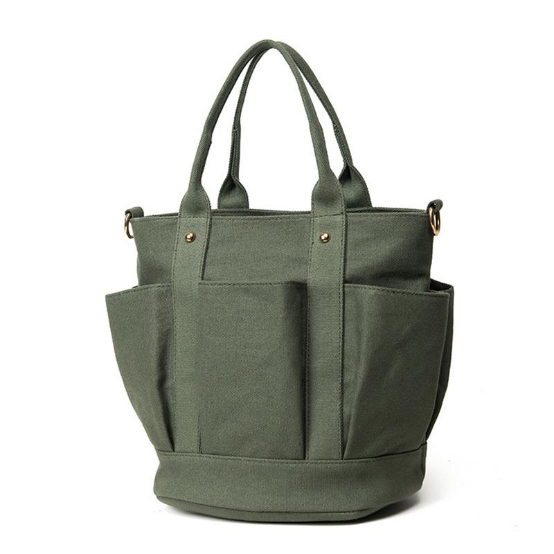 Women's European And American Style Sling Shoulder Bag Canvas Messenger Crossbody Hand Bags Bucket Handbag Purse Handbags Tote