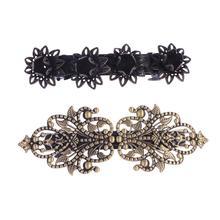 2pcs Hair Clip Lotus Retro Flower Shaped Hair Accessories Spring Hair Clip Hair Pin for Women Ladies Girls недорого
