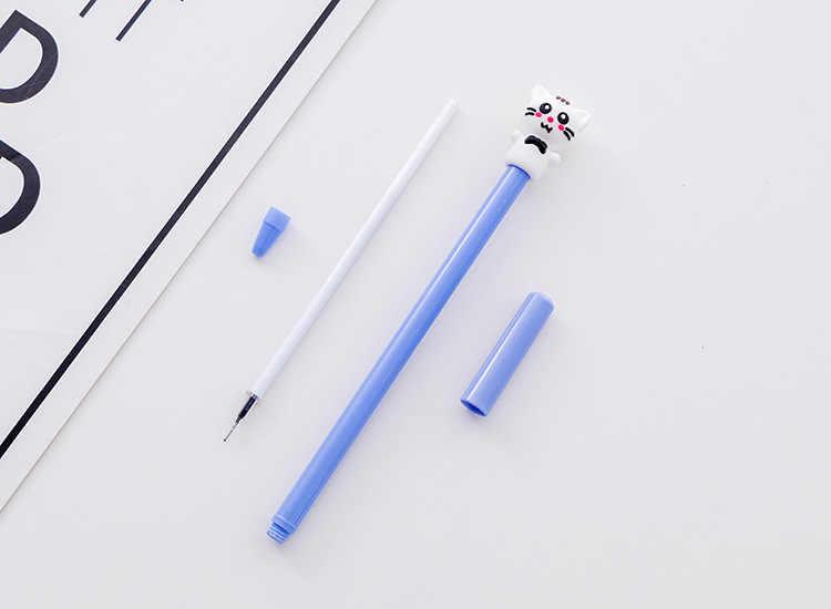 Ellen Brook 1 Piece Cartoon Kawaii School Supply Office Stationery Gel Pen Handles Creative Meng Cat Lovely Cute Gift