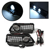 Pair Fog Light Lamp Driving Lamp Grille with Connecting Wire Cable for Volkswagen for VW MK3 Golf Jetta 1992 1998