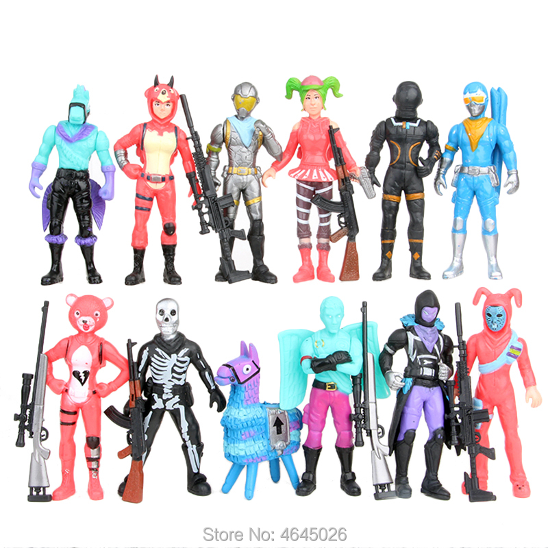 Fornite Battle Royale PVC Action Figures Llama Game Model Gun Weapons Figurines Collectible Dolls Kids Toys for Children Boys-in Action & Toy Figures from Toys & Hobbies