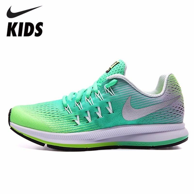 Nike Детская обувь весна новый шаблон Досуг время выполнения обуви мальчик и девочка Мода кроссовки #834317 301