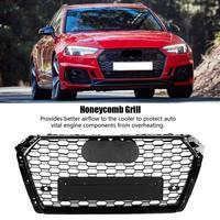 Авто бампер решетка Передняя Спорт Шестигранная сетка соты решетка капота черный глянец для Audi A4/S4 B9 2017 2018 для RS4 Стиль